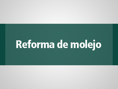 Reforma de molejo